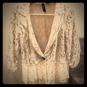 Gorgeous BKE Boutique lace blazer